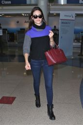 Emmy Rossum Street Fashion - at LAX Airport - November 2014