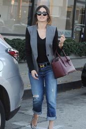 Emmy Rossum Street Style - Shopping in West Hollywood - November 2014