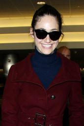 Emmy Rossum Style - Arriving at LAX Airport in Los Angeles - November 2014