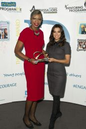 Eva Longoria Presents the Global Gift Our Heroes Award 2015 at Emirates Stadium in London