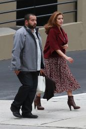 Eva Mendes - Shooting a Commercial in Los Angeles, November 2014