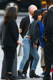 Evangeline Lilly Arriving to Appear on Jimmy Kimmel Live in Hollywood - November 2014