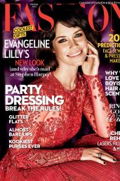 Evangeline Lilly - Fashion Magazine Winter 2015 Cover