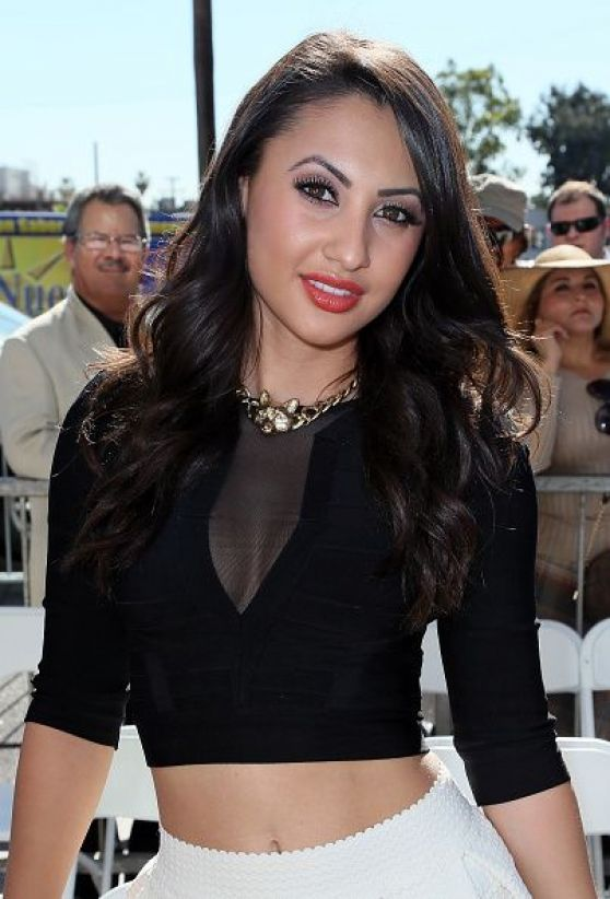 Francia Raisa - Renan Almendarez Coello Walk Of Fame Ceremony in Hollywood - November 2014
