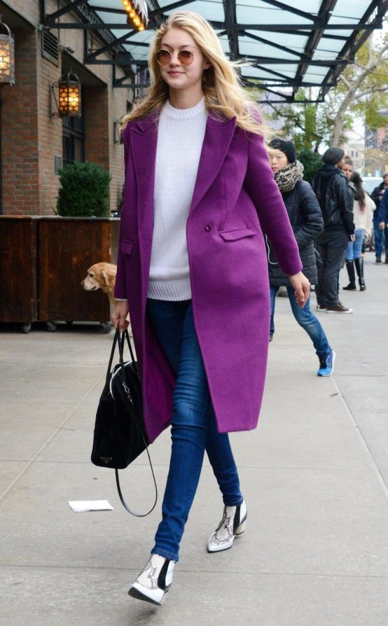 Gigi Hadid Street Fashion Out For Lunch In New York City November 2014