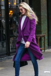 Gigi Hadid Street Fashion - Out for Lunch in New York City - November 2014