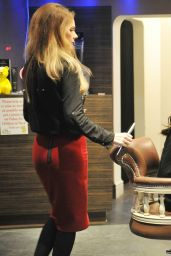 Helen Flanagan at a Hair Salon Manchester - November 2014