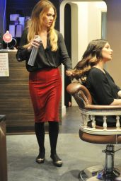 Helen Flanagan at a Hair Salon Manchester - November 2014