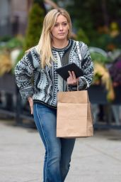 Hilary Duff in Jeans - Out in New York City - November 2014