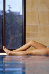 Holly Valance Poolside Bikini Photoshoot (2014)