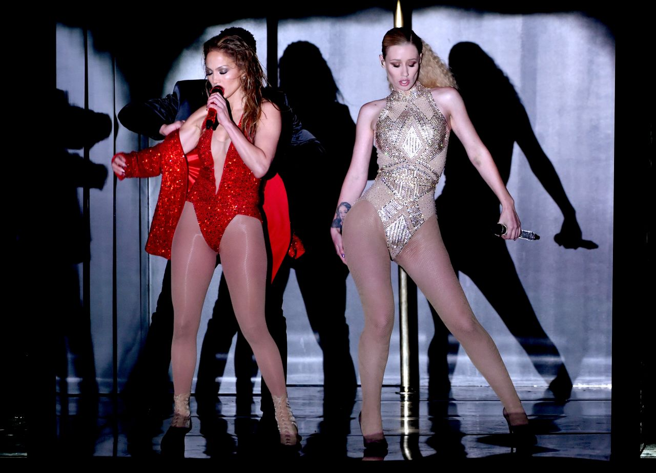 Iggy Azalea & Jennifer Lopez Performs at 2014 American Music Awards in Los Angeles