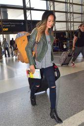 Jamie Chung Casual Style - at LAX Airport, November 2014