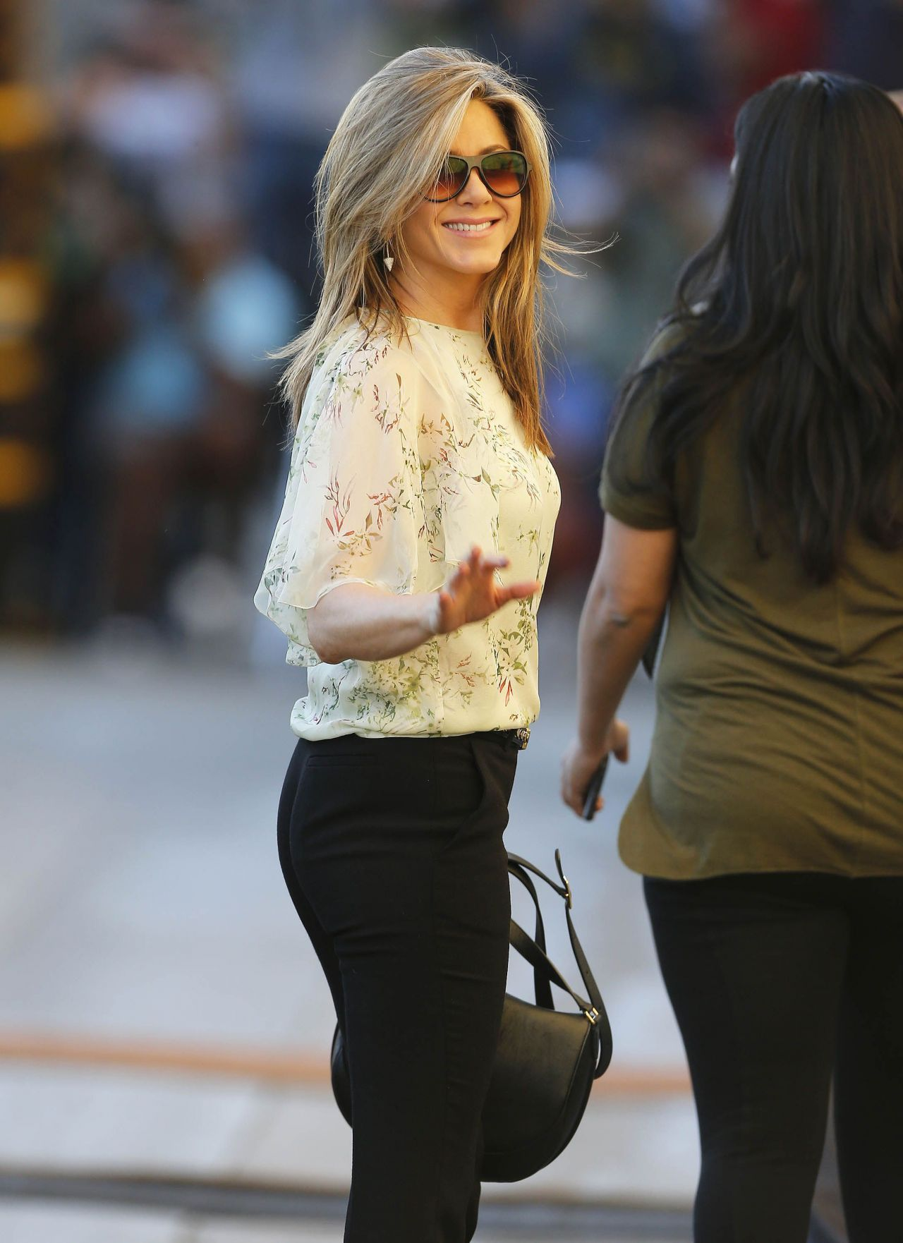 Jennifer Aniston Style Arriving To Appear On Jimmy