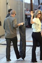 Jennifer Aniston Style - Arriving to Appear on Jimmy Kimmel Live in Hollywood - November 2014
