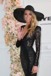 Jennifer Hawkins at the Myer Marquee on Derby Day in Melbourne - Nov. 2014