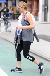 Jennifer Lawrence in Leggings - Leaving the Gym in New York City, Nov. 2014