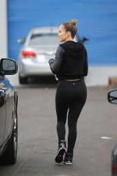 Jennifer Lopez Booty in Tights - Out in Los Angeles, Novemebr 2014