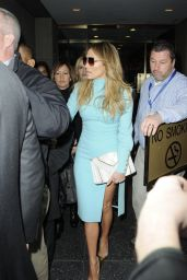 Jennifer Lopez - Leaving NBC Studios in Manhattan - November 2014