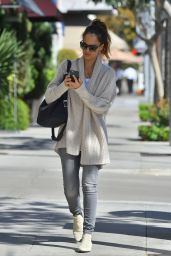 Jessica Alba Casual Fashion - Out in Beverly Hills, November 2014
