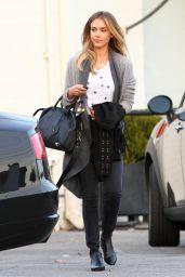 Jessica Alba Casual Style - Out in Santa Monica, November 2014