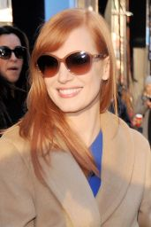 Jessica Chastain Arriving to Appear at