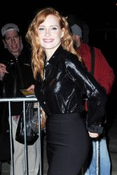 Jessica Chastain Arriving to Appear on The Daily Show With Jon Stewart in NYC - November 2014