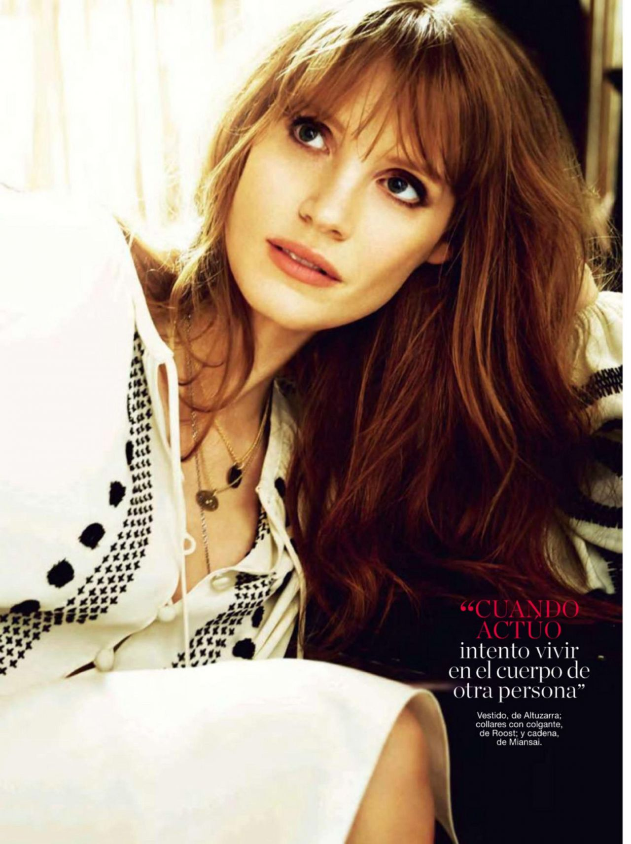 Jessica Chastain - Glamour Magazine (Spain) - December 2014 Issue