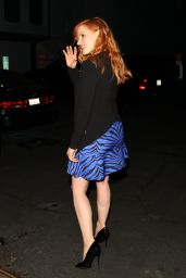 Jessica Chastain Night Out Style, West Hollywood - November 2014