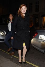 Jessica Chastain - Outside Her Hotel in London, Oct. 2014