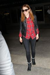 Julianne Moore - Arrives at LAX Airport in Los Angeles - November 2014