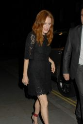 Julianne Moore Night Out Style - Leaves the Chiltern Firehouse in London - November 2014