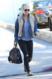 Kaley Cuoco Casual Style - Out in Los Angeles, November 2014