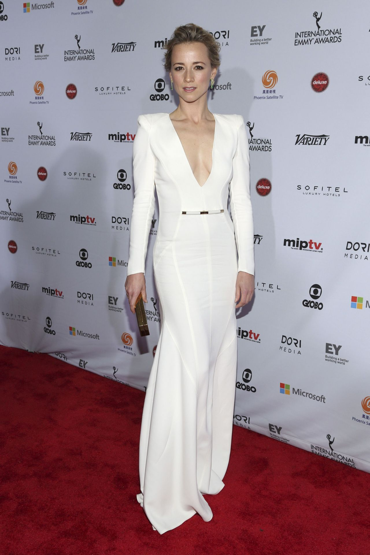 Karine Vanasse 2014 International Academy Of Television Arts Amp Sciences Emmy Awards In New