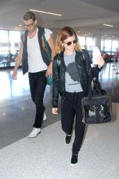 Kate Mara Street Style - at LAX Airport - November 2014