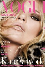 Kate Moss - Vogue Magazine (UK) December 2014 Cover