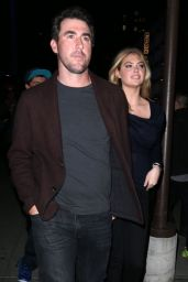 Kate Upton With Her Boyfriend - Leaving the Knicks Game in New York City - Nov. 2014