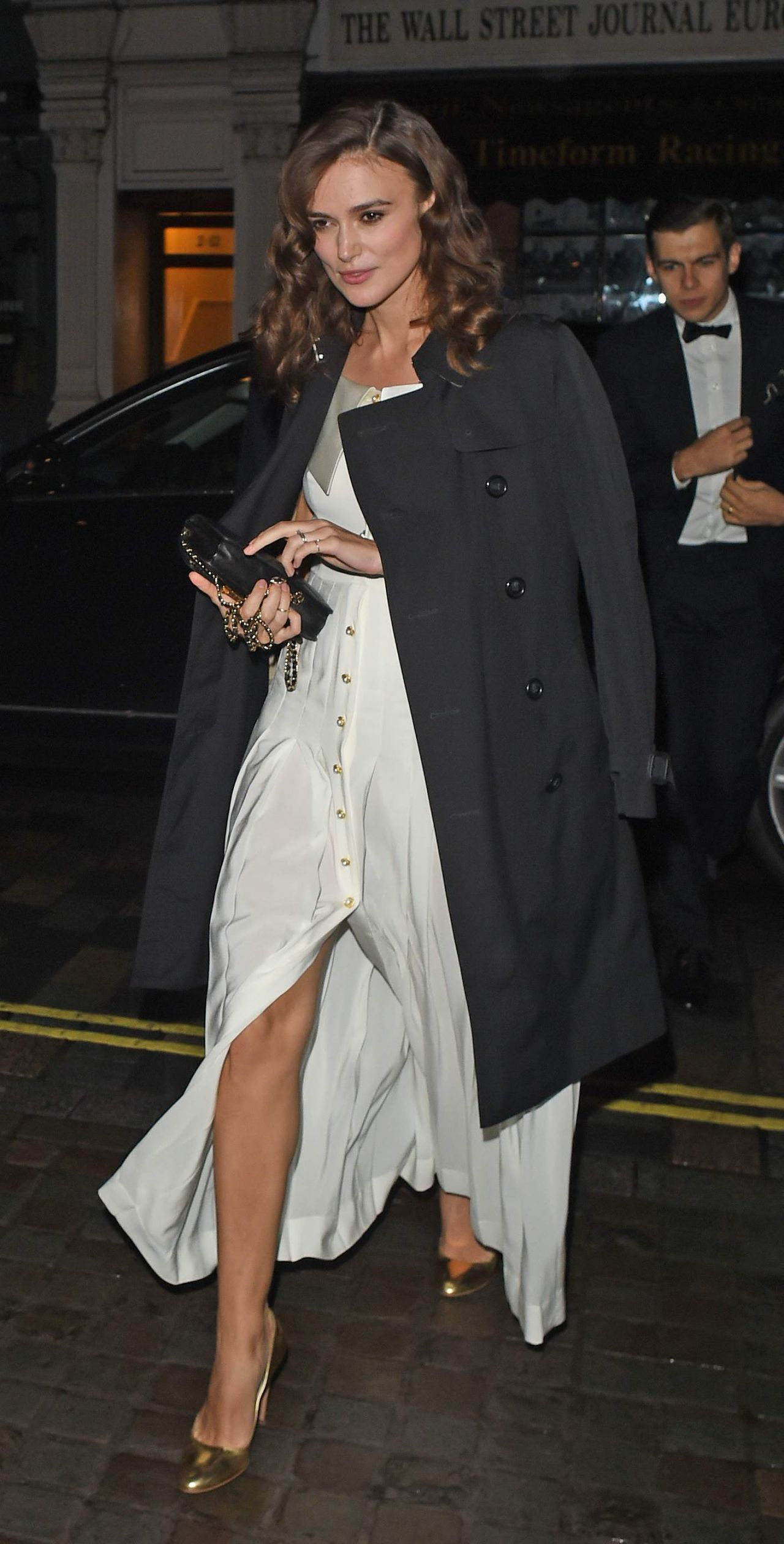 Keira Knightley Arrive at Mario Testino 60th Birthday Party