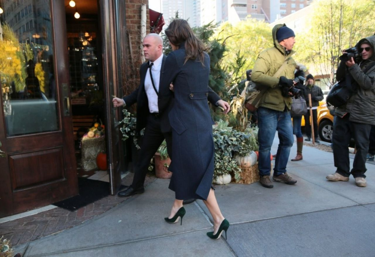 Keira Knightley - Returns to Her Hotel in New York City - November 2014