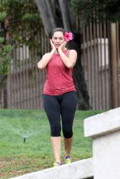 Kelly Brook Booty in Tights - After Leaving a Gym in Los Angeles, November 2014