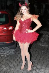 Kelly Brook Dressed as a Devil for Halloween 2014 in Hollywood
