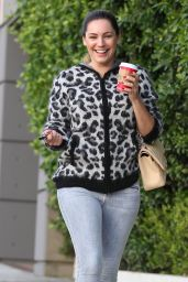 Kelly Brook Street Style - Out in Los Angeles - November 2014