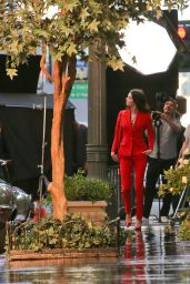 Kendall Jenner in All Red - Photoshoot in Los Angeles, November 2014