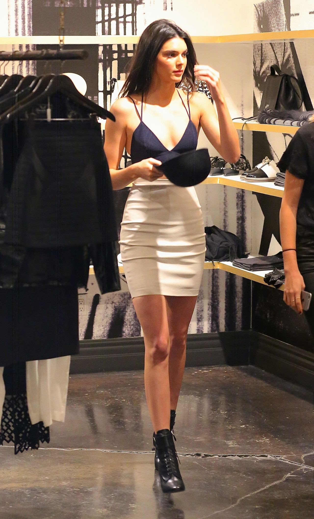 Jenner in Mini Skirt - Shopping in Beverly Hills - November 2014