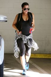 Khloe Kardashian Gym Style - Out in Beverly Hills, November 2014
