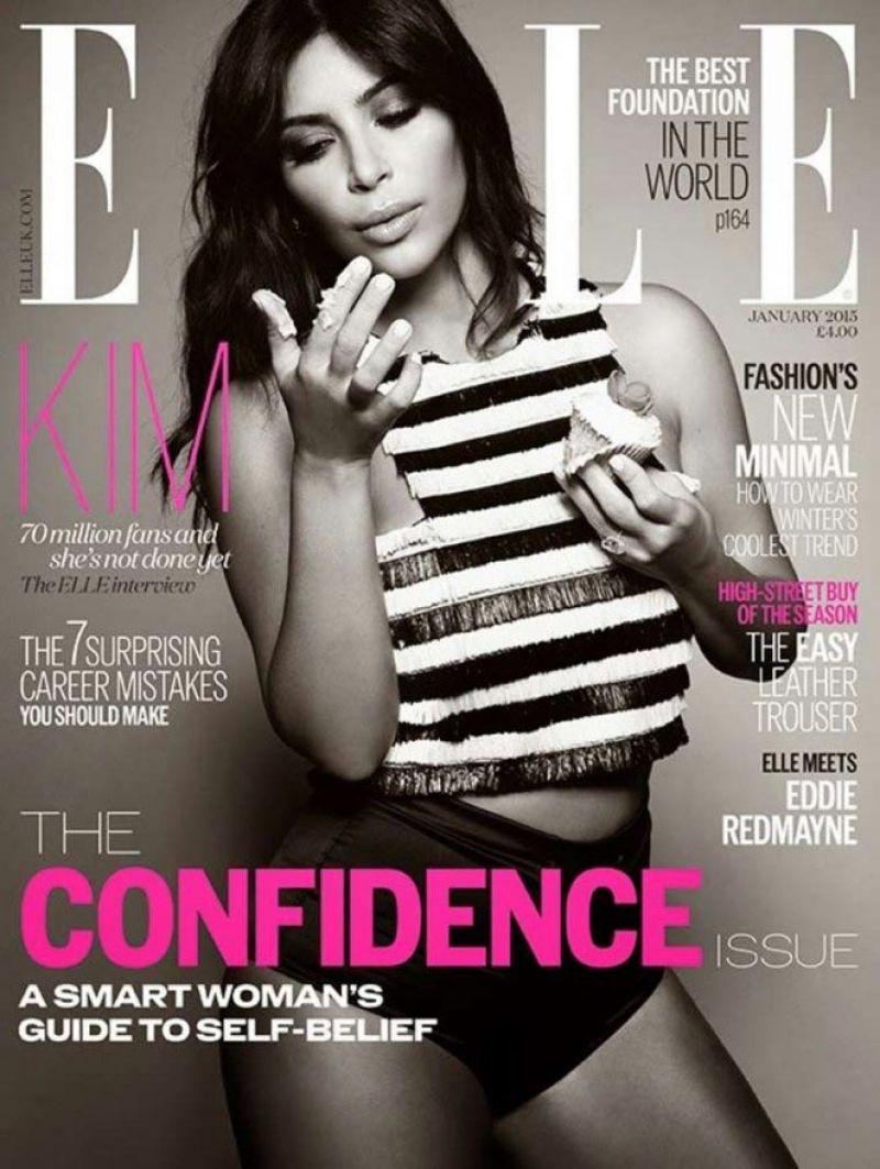 Kim Kardashian - Elle Magazine Cover January 2015