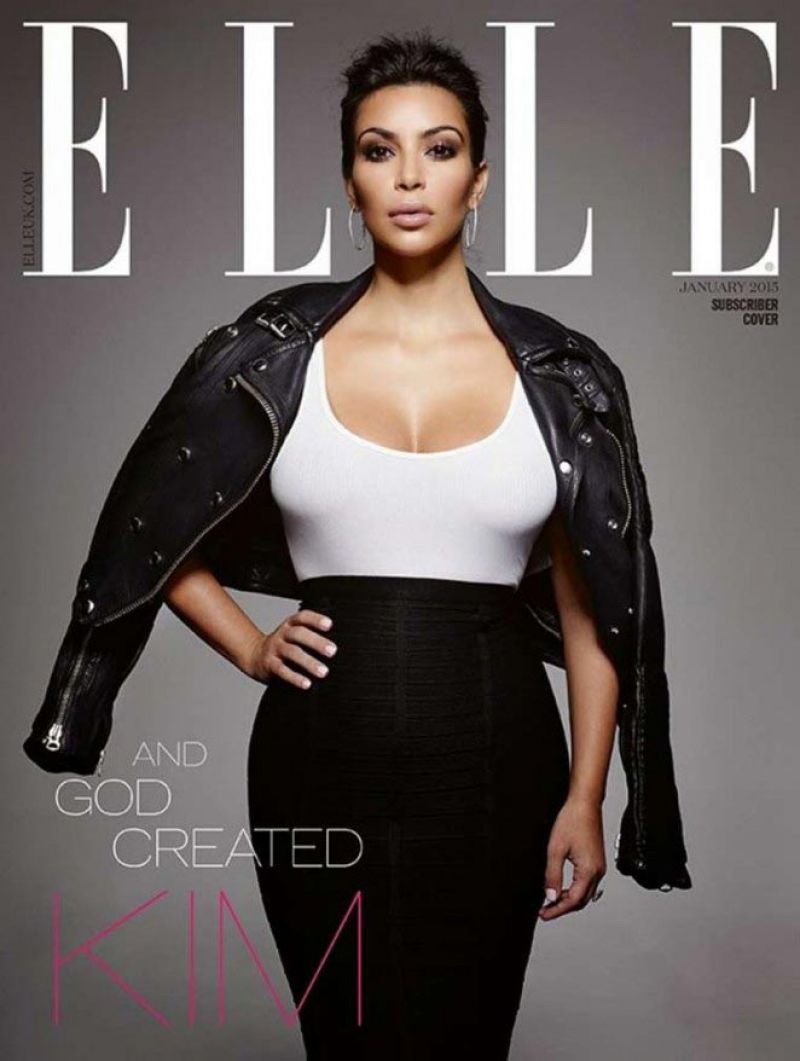 Kim Kardashian Elle Magazine Cover January 2015