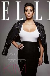 Kim Kardashian - Elle Magazine Cover January 2015