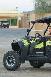 Kim Kardashian - Riding Around the Dubai Desert on Dune Buggies - November 2014