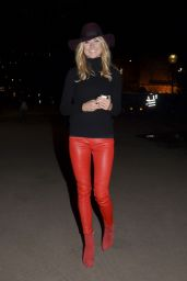 Kimberley Garner in Red Leather Pants - at Winter Wonderland in London, November 2014
