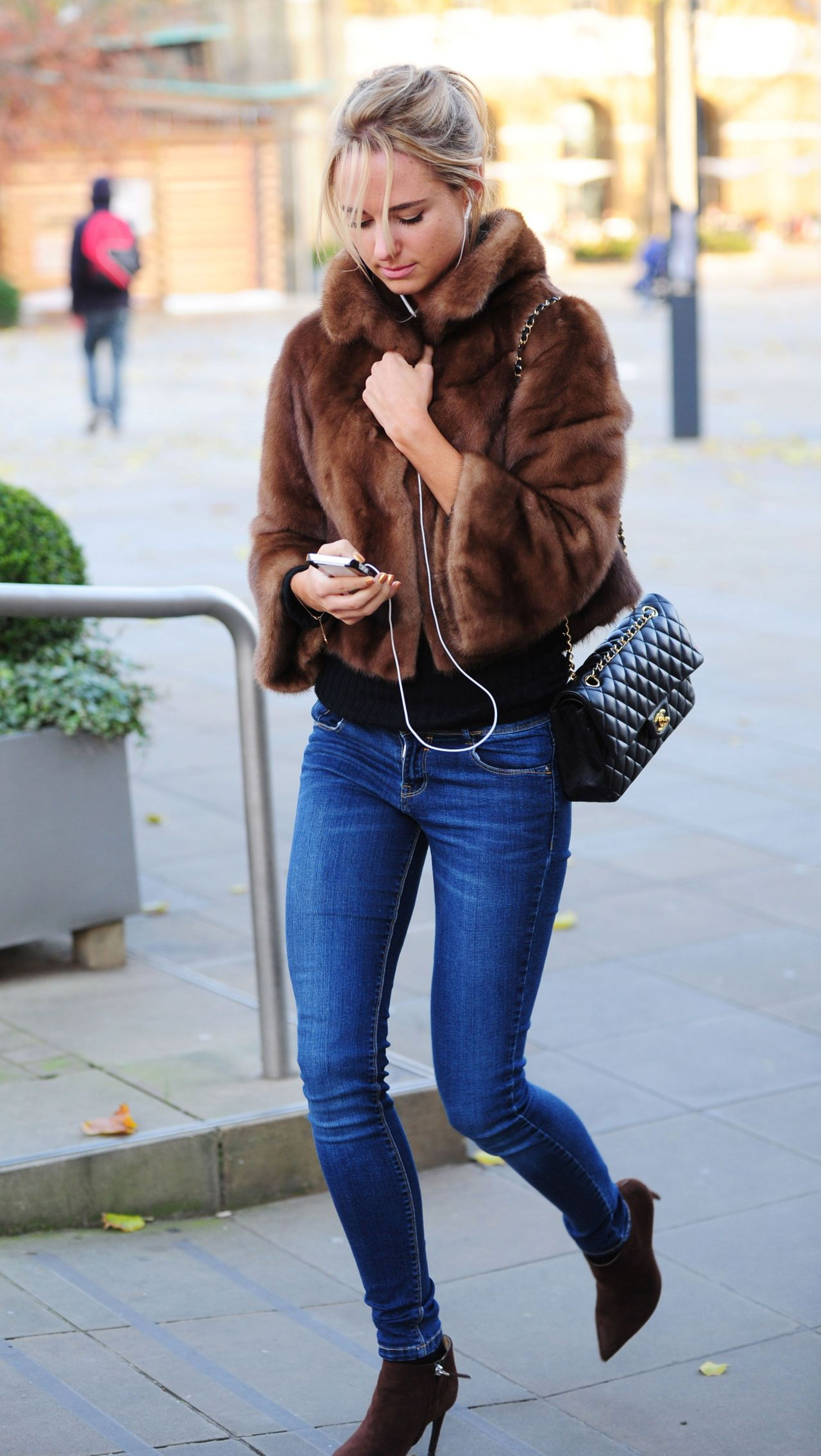 Kimberley Garner In Tight Jeans Out In London November